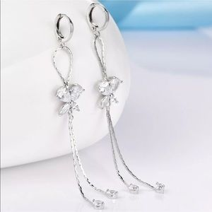 Jewelry - 18K GF butterfly tassel earrings